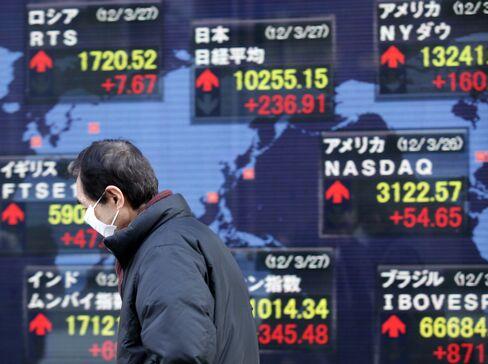 Asian Stocks Little Changed Before U.S. Data; Japan Stocks Drop