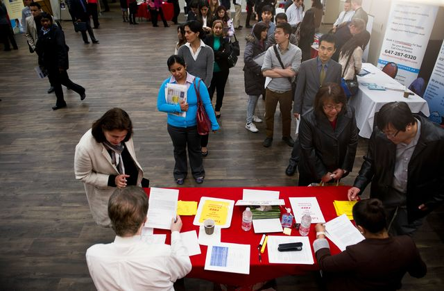 Will Conservatives be bragging to job seekers in Toronto? Photographer: Galit Rodan/Bloomberg