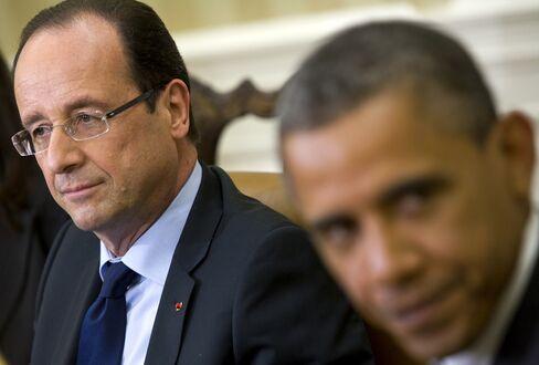 French President Francois Hollande & U.S. President Barack Obama