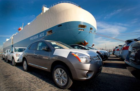 Car Carriers Fill Up as Global Trade Expands to Record