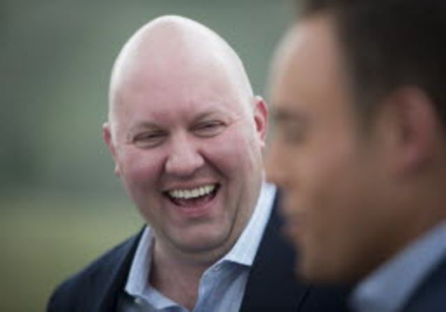 Web pioneer Marc Andreessen doesn't think there's anything funny about anonymous social networks. Photograoher: Scott Eells/Bloomberg.
