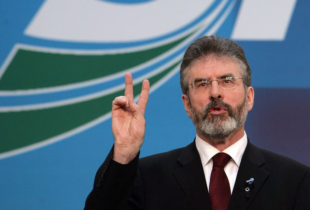 Gerry Adams, paragon of peace? Photographer: Paul McErlane/Bloomberg