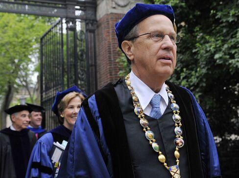 Yale University President Richard Levin