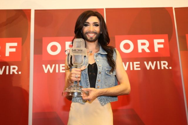 It's not over until the bearded drag queen sings.Conchita Wurst attends a May 11press conference after winning the Eurovision Song Contest 2014. Photographer:Moni Fellner/Getty Images