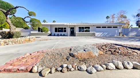 A four-bedroom in Palm Springs, Calif., listed for $575,000.