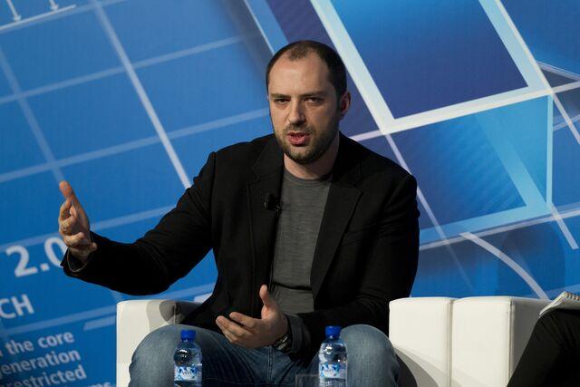 WhatsApp founder Jan Koum is pocketing about $8.5 billion in Facebook's money.Photographer: Angel Navarette/Bloomberg