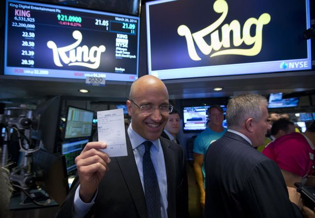 King Digital Entertainment Plc, a maker of video games, sold shares to the public last month in the midst of a tech-stock slump. Photographer: Jin Lee/Bloomberg