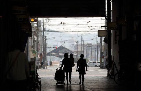 Pedestrians in Okayama