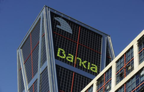 Spanish Credit Risk Surges to Record on Bankia 'Zombie' Peril