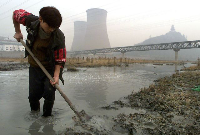 China's polluted soil is a bigger problem than many realized. Photographer: Stephen Shaver/AFP/Getty Images