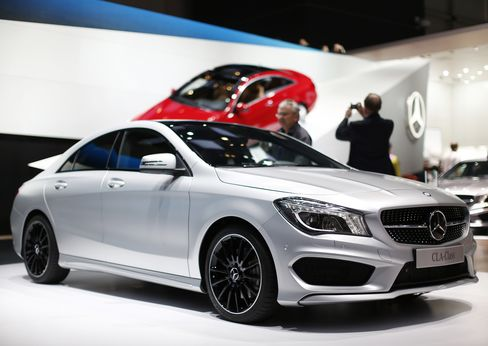 A Mercedes-Benz CLA-Class Automobile