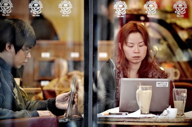 Twenty years ofChinese Internet.Photographer: Philippe Lopez/AFP/Getty Images