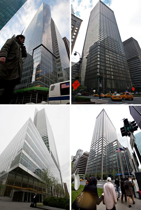 Four of the largest U.S. banks' headquarters
