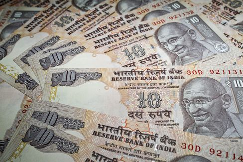 Indian Rupee Plunges Most in 21 Months to Record Low