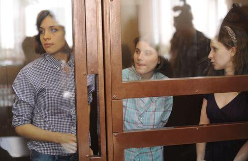 Punk Girls Sorry Anti-Putin Prayer Hurt Faithful as Trial Opens