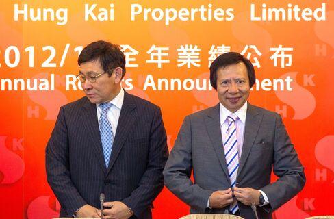 Sun Hung Kai Co-Chairmen Raymond Kwok and Thomas Kwok