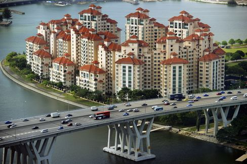 Singapore Home Prices Climb to Record as Government Curbs Loans