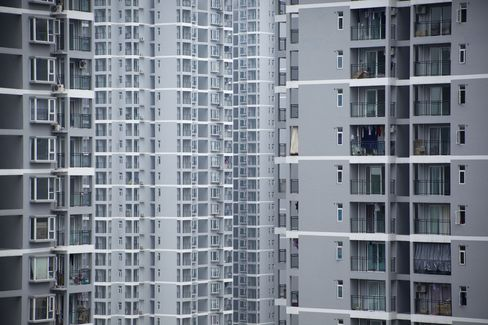 China May Home Prices Fall in Record Number of Cities on Curbs