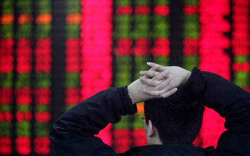 China's Shares Gain After Stock Valuations Slump to 15-Week Low