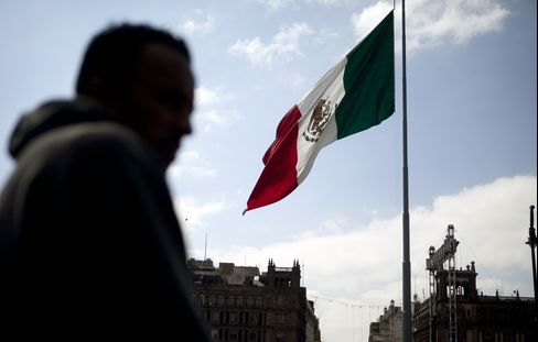 The Mexican Flag Flies in Mexico City