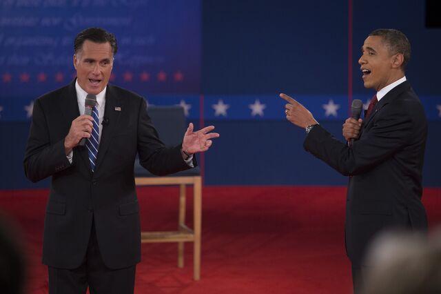 Nope, Barack Obama andMitt Romney didn't finish in a dead heat in Arkansas in 2012.Photographer: Scott Eells/Bloomberg