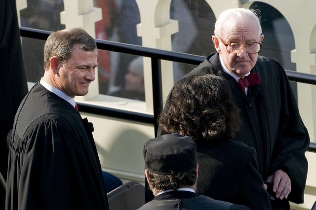 On affirmative action, John Paul Stevens has some words of wisdom. Photographer: Ken Cedeno/Bloomberg