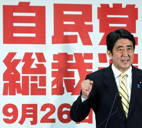 Liberal Democratic Party President Shinzo Abe