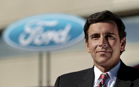 Chief Operating Officer of Ford Motor Co. Mark Fields. Photographer: Jeff Kowalsky/Bloomberg