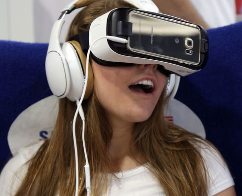 PHILADELPHIA, PA - JULY 04:  Attendees at Team USAs Virtual Reality Experience  Powered by Samsung Gear VR during the 2015 Road to Rio Tour at Fairmount Park on July 4, 2015 in Philadelphia, Pennsylvania.  (Photo by Bill McCay/Getty Images for Samsung)