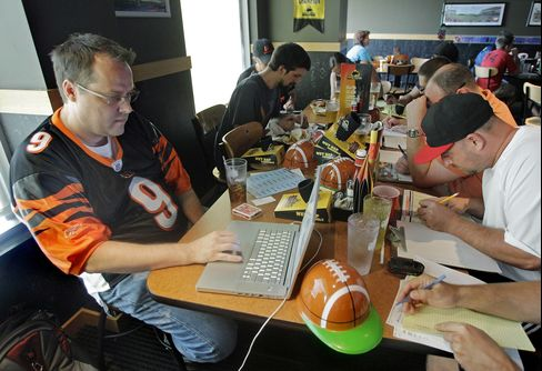 NFL Bets on Fantasy Lounges as TV Sports Keeps Some Fans at Home