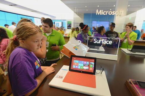 Microsoft Profit Misses Estimates Amid Writedown of Surface