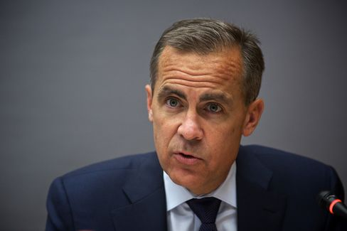 In-coming Bank of England Governor Mark Carney has been most vocal in signaling he may revamp the central bank's communications to indicate how long it will hold its benchmark interest rate at 0.5 percent. Photographer: Gianluca Colla/Bloomberg