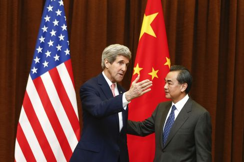 China Foreign Min. Wang Yi & U.S. Secretary of State John Kerry