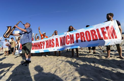 Romney Fundraiser in Koch's Southampton Home Draws Protest