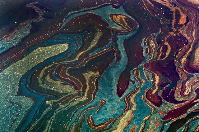 On the plus side, the Deepwater Horizon oil spill created pretty patterns? Photographer: Kari Goodnough/Bloomberg