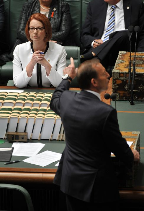Gillard Wins as Julia After Losing 3 More Men Obscuring Policies
