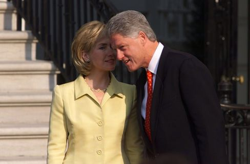 Former President Bill Clinton and First Lady Hillary Clinton