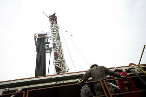 A Rig Drills for Natural Gas in Pennsylvania
