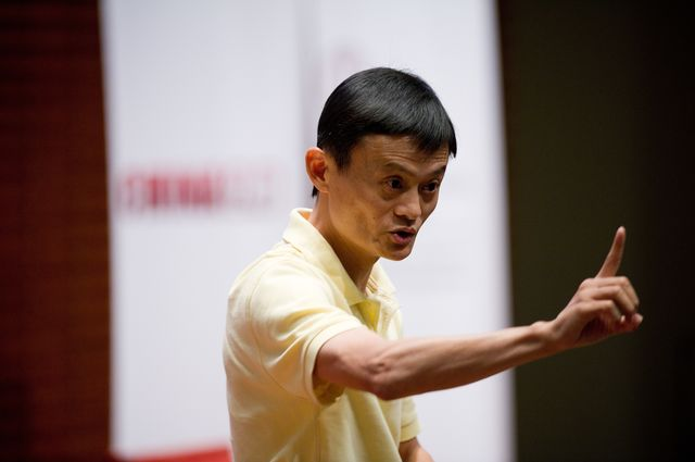Alibaba founder Jack Ma might pick up a few pointers from his neighbor to the east.Photographer: David Paul Morris/Bloomberg