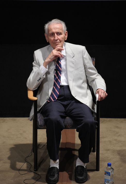 Dr. Jack Kevorkian takes part in a Q&A following the screening of