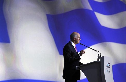 Papandreou Sees Greece Staying in Euro as Austerity Steps Eased