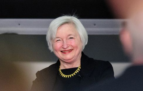Janet Yellen, vice chairman of the U.S. Federal Reserve, was viewed more favorably among investors, with 60 percent of respondents holding a positive view, compared with 37 percent for Lawrence Summers, former secretary of the U.S. Department of the Treasury. Photographer: Pete Marovich/Bloomberg