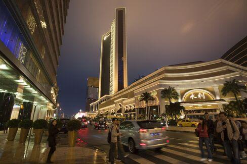 The Wynn Macau, owned by Wynn Resorts Ltd., stands in Macau, China. Photographer: Jerome Favre/Bloomberg
