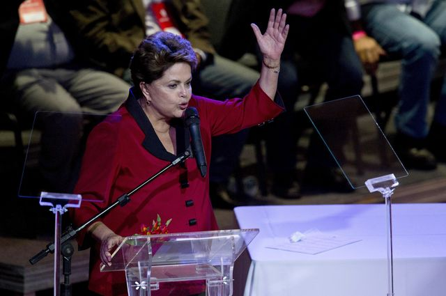 You think I'm up here for my health? I'm running for re-election.             Photographer: Nelson Almeida/AFP/Getty Images