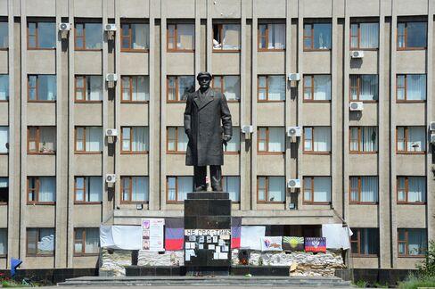Lenin statue in Slavyansk