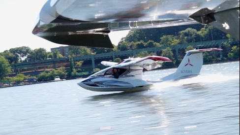 The Icon A5 can land on a runway or a river.