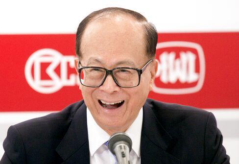 Li Ka-shing, chairman of Hutchison Whampoa Ltd.