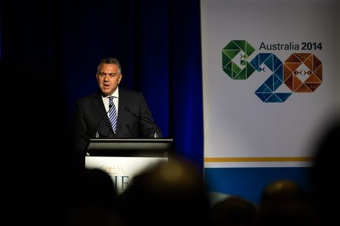Australia's Treasurer Joe Hockey