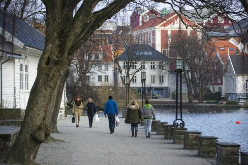 A Waterway in Stavanger, Norway