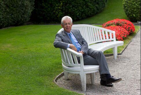 Former European Union Competition Chief Mario Monti